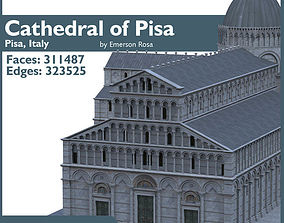 3D Highly Detailed Cathedral of Pisa
