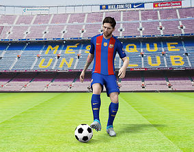 Lionel Messi rigged 3D asset animated