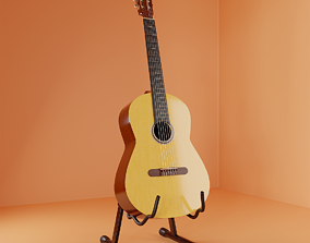 3D model Classic guitar and stand
