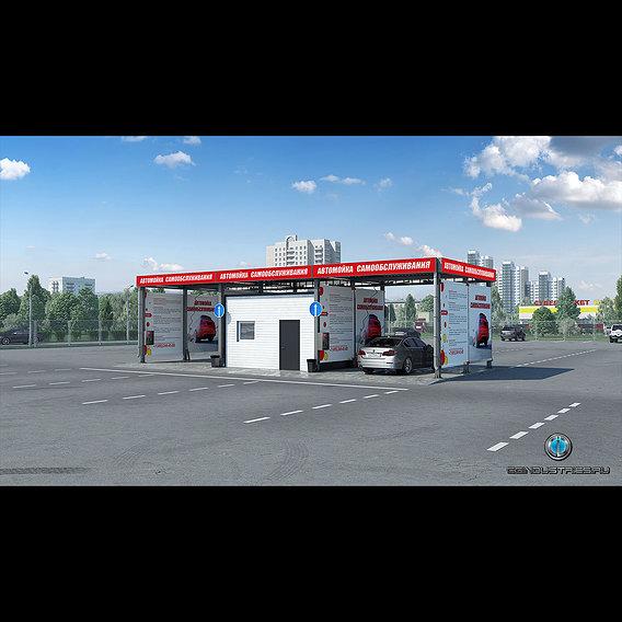 Visualization of modular car washes