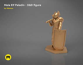 ELF PALADIN CHARACTER GAME FIGURES 3D printable model