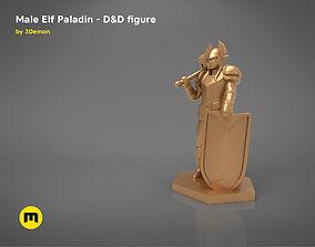 ELF PALADIN CHARACTER GAME FIGURES 3D printable model