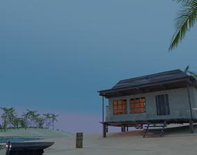 Remote tropical island 3D