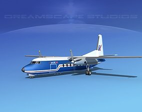 3D Fokker F-27 Air UK 2