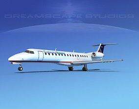 3D model Embraer ERJ-140 Continental Express