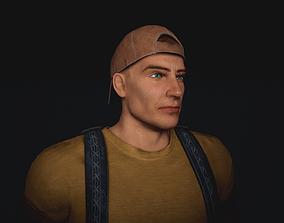 Post apocaliptic survival male character 3D asset