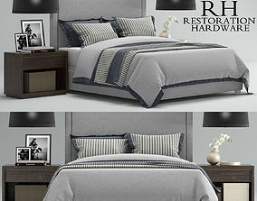 3D model RH Wallace Upholstered bed