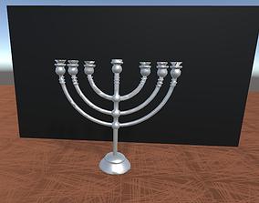 menorah candelabra 3D asset