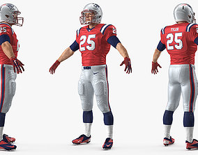 3D model New England Patriots American Football