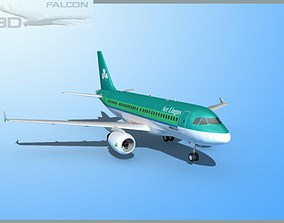 rigged Falcon3D A319 Aer Lingus