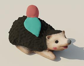 Garden Hedgehog sculpture 3D asset