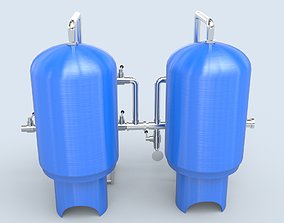 Sand Carbon Filter For Water Treatment 3D asset