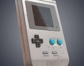 Retro portable video console 3D model