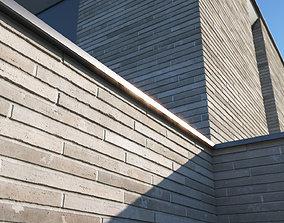 Roman brick wall texture large surface 3D model