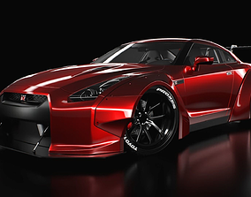 racing nissan GT-R liberty walk 3D