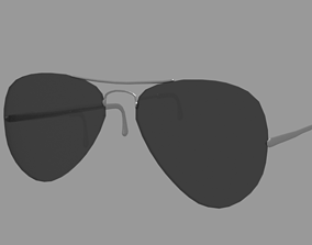 3D model VR / AR ready Aviator Sunglasses
