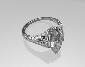 Art deco ring 3D printable model retro