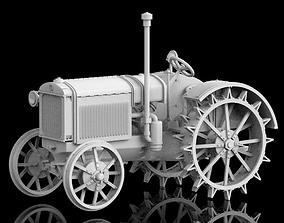 3D print model tractor