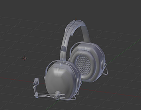 3D asset Aircraft Radio Headset