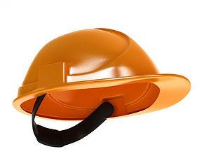 3D Worker helmet low poly