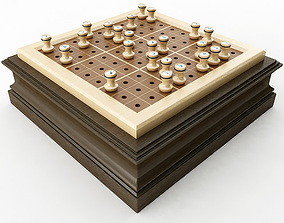 Wooden Sudoku Board 3D model