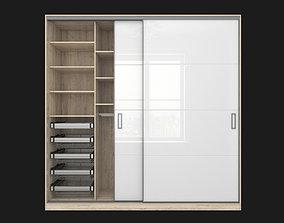 Sliding wardrobe in a narrow Modus MS163 profile 3D model
