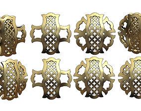 3D print model Double sided arabian pattern pendants 2