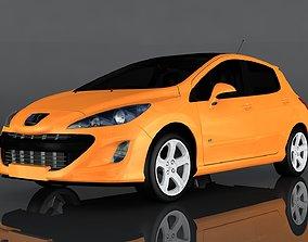 3D asset Peugeot 308