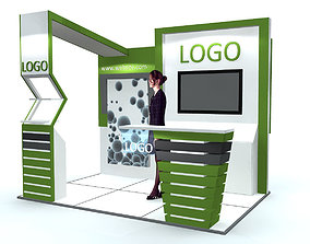 3D model Exhibition Stand - ST0011