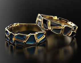 nature Geometry enamel ring 3D print model