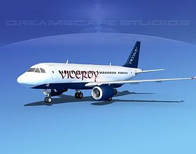 3D Airbus A319 Viceroy