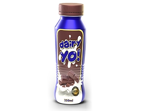 3D model 250ml Yoghurt Bottle