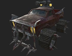 Car post apocaliptic suv 3D model