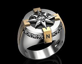 3D print model Compass rose ring