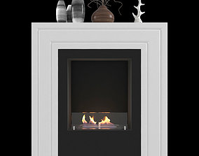 3D model Animated fireplace Kristine