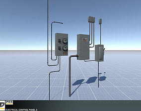 3D asset game-ready Electrical Control Panel 3
