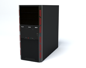 Desktop Computer - mATX case 3D