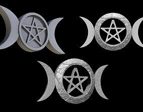 Triple Goddess Symbol Triluna 3D print model