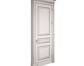 3D model Classic door with gold patina