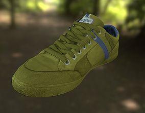 Sneaker shoe low poly model walking low-poly