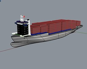 3D 138 Lpp Container Ship