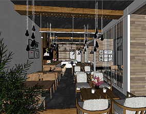 Cafe design 3D