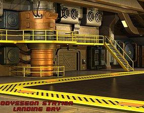 3D Odysseon Station Landing Bay