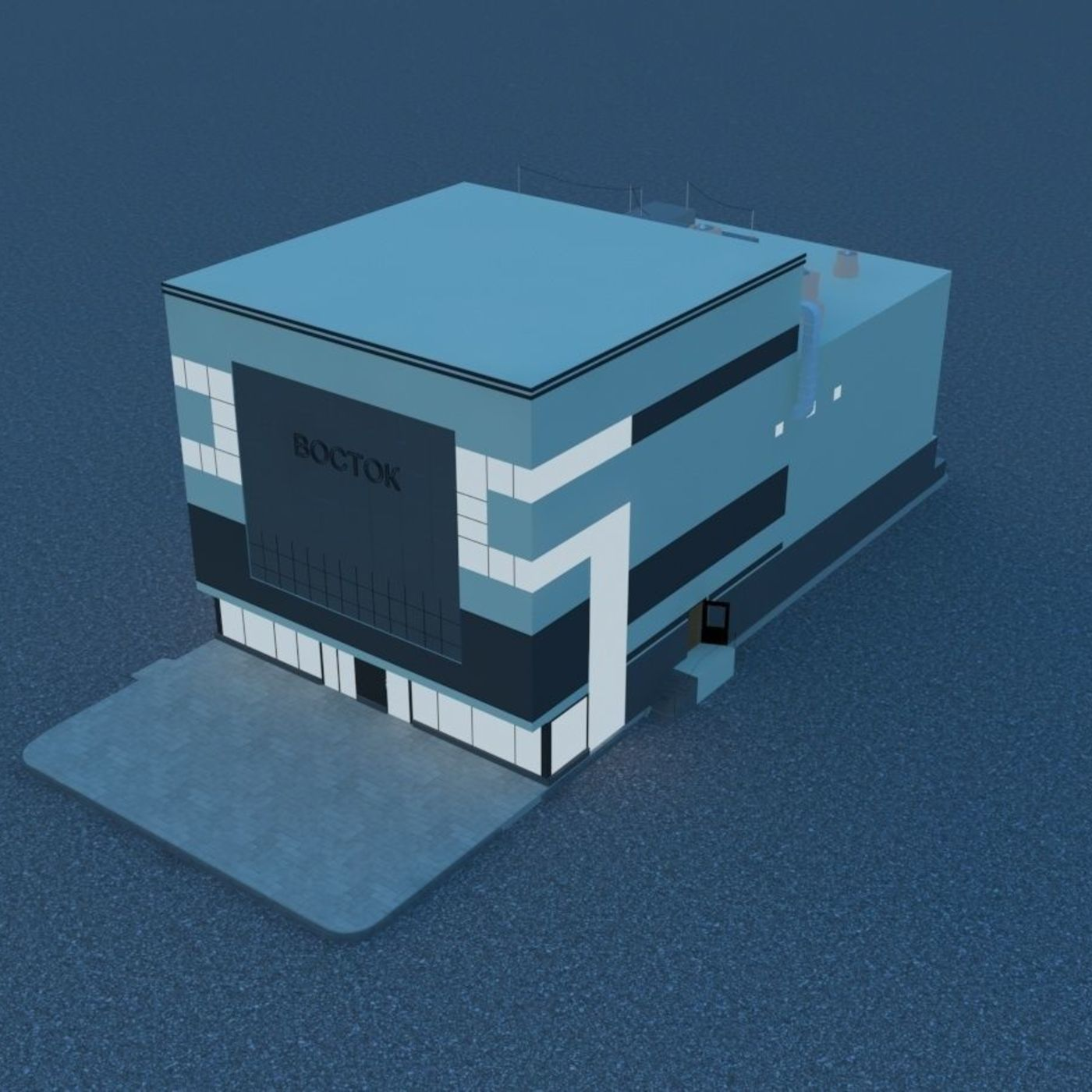 shopping center East 3D model