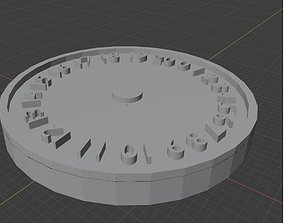 Metric Hands 0-20 Wound Tracker 3D print model