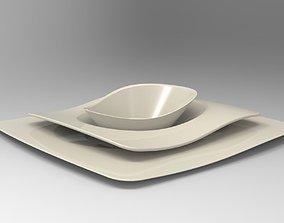 Plate set 3D model