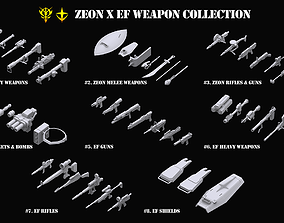Gundam Zeon X Earth Federation Weapon Collection 3D model