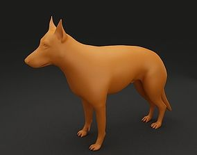 German Shepherd 3D Model