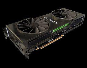 Nvidia RTX 2080 ti Graphic card 3D model