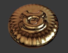 Zodiak sign Taurus Coin 3D print model